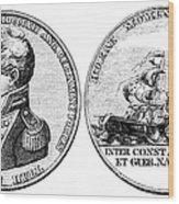 Isaac Hull: Medal Wood Print