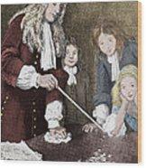Isaac Newton, English Polymath Wood Print by Science Source