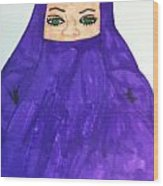 Isalm Woman Wood Print