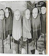 Islamic Mannequins Wood Print