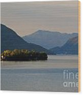 Island And Mountain Wood Print