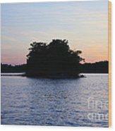 Island Evening Wood Print