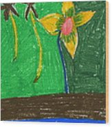 Island Flower Wood Print