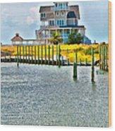 Island House Wood Print