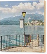 Island San Giulio On Lake Orta Wood Print