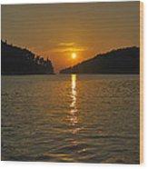 Island's Sunset Wood Print