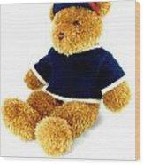 Isolated Teddy Bear Wood Print