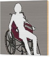 Isolation Through Disability, Artwork Wood Print by Stephen Wood