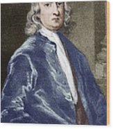 Issac Newton, English Physicist Wood Print by Sheila Terry