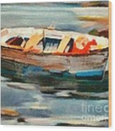 Istrian Fishing Boat Wood Print