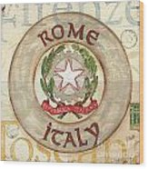 Italian Coat Of Arms Wood Print