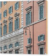 Italian Facade Wood Print