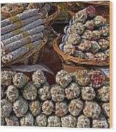 Italian Market Wood Print