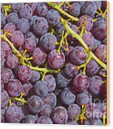 Italian Red Grape Bunch Wood Print