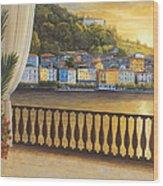 Italian View Wood Print by Diane Romanello