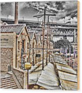 Italian Village-sydney Harbor Bridge Wood Print