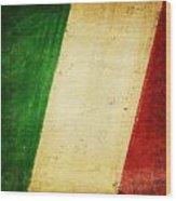 Italy Flag Wood Print