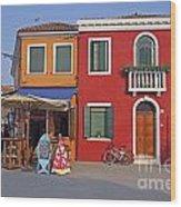 Italy Venice  Wood Print