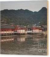 Itsukushima Shrine On Miyajima Island Wood Print