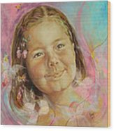 Ivana's Portrait Wood Print