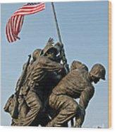 Iwo Jima Memoria 2 Wood Print