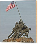 Iwo Jima Memorial Wood Print
