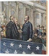 J. A. Garfield: Inauguration Wood Print by Granger