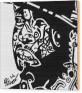 J Dilla Wood Print