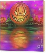 Jack And Friends By The Waters Edge Wood Print
