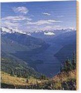 Jack Peak And Ross Lake Wood Print