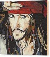 Jack Sparrow Print Wood Print