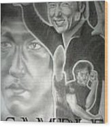 Jackie Chan And Bruce Wood Print by Rick Hill