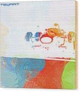 Jackie Stewart Wood Print by Naxart Studio
