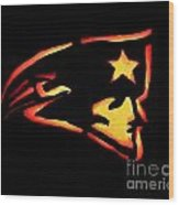 Jacko Lantern Patriots Wood Print by Lloyd Alexander