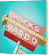 Jack's Bar-b-q Wood Print