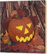 Jack's Grim Grin - Fm000065 Wood Print