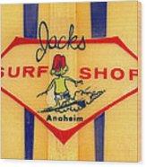 Jacks Surf Shop Wood Print