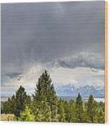 Jackson Hole Thunderstorms Wood Print