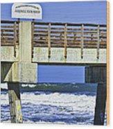 Jacksonville Beach Fishing Pier Wood Print