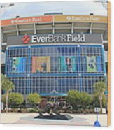 Jacksonville Jaguars Stadium Wood Print
