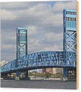 Jacksonville Main Street Bridge Wood Print
