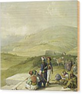 Jacobs Well At Shechem  Wood Print
