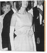 Jacqueline Kennedy At A Dinner To Honor Wood Print