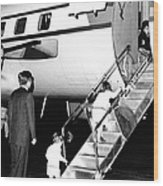 Jacqueline Kennedy Is Welcomed Home Wood Print by Everett
