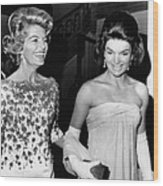 Jacqueline Kennedy With The Wife Wood Print by Everett