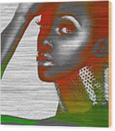 Jada Wood Print by Naxart Studio