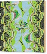 Jade Flower Abstract Wood Print