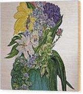 Jade Vase  Wood Print