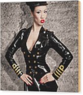 Jade Vixen Military 1143 Wood Print