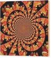 Jagged Petals Wood Print